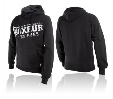 Felpa con cappuccio Boxeur Des Rues Color BXT-4552 Nero