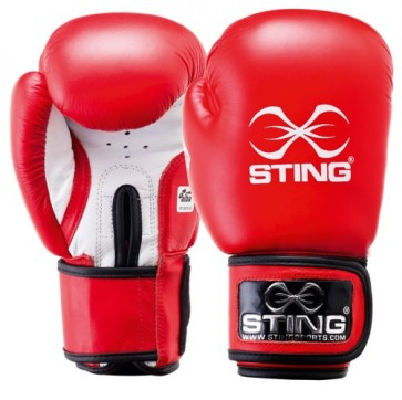 Guantoni AIBA 10 Oz Sting Competition Rosso