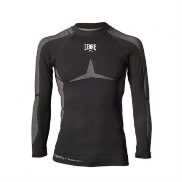 T-shirt maniche lunghe a compressione Leone ABX27 Seamless Extrema Nero