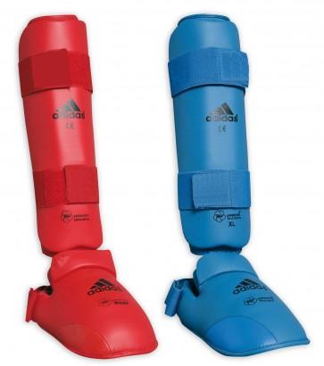 Paratibie e Paratibie Adidas Rosso e Blu Omologati WKF