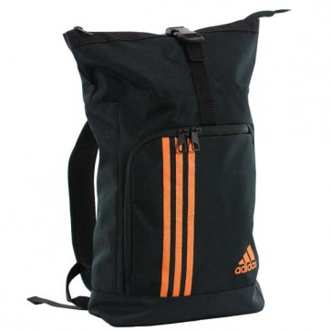 Sacca zaino Training Military Adidas Nero-Arancio Small 34x30x11