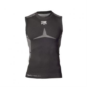 T-shirt smanicata a compressione Leone ABX01 Seamless Extrema Nero