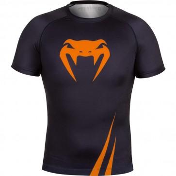 Venum Challenger Nero e Arancio - Rashguard MMA Maniche Corte