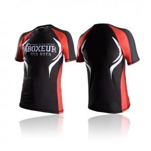 T-shirt a compressione Boxeur Des Rues Tribal BXT-2651 Rosso