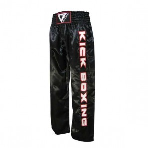 Pantaloni lunghi con scritta Kick Boxing Vandal Neri