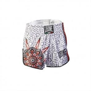 Pantaloncini da thai-kick Leone Mandala AB761 Bianco