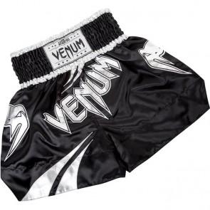 Pantaloncini Kick Boxing Muay Thai Venum Channah Nero Argento