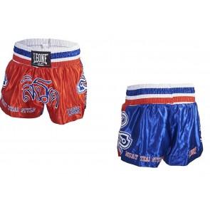 Pantaloncini da Muay Thai Leone Thai Warrior AB746 Rosso-Blu