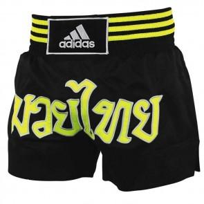 Pantaloncini da thai-kick Adidas Nero-Giallo