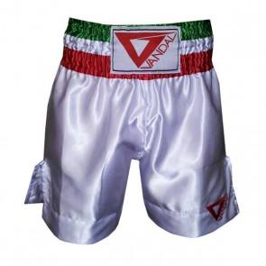 Pantaloncini da Boxe Vandal Bianchi con tricolore
