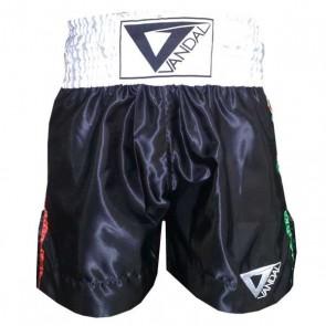 Pantaloncini da Boxe Vandal Neri con tricolore
