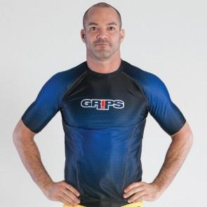 Rashguard Grips Athletics MMA Wasp Honeycomb Blu