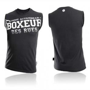 T-Shirt Smanicata Boxeur Des Rues Training Tank Nero