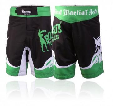 Pantaloncini da MMA Boxeur Des Rues Tribal BXT-1363 Verde