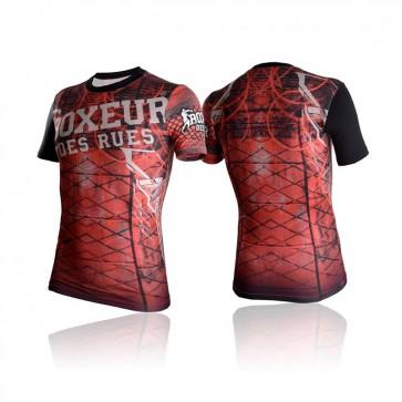 T-shirt a compressione Boxeur Des Rues Cross BXT-2728 Rosso