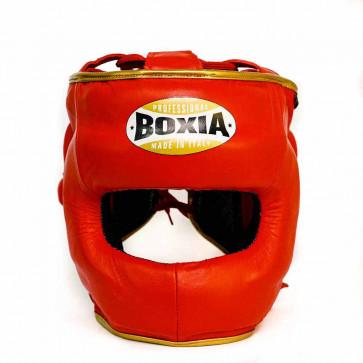 Casco Boxia Super America Rosso-oro con Barra