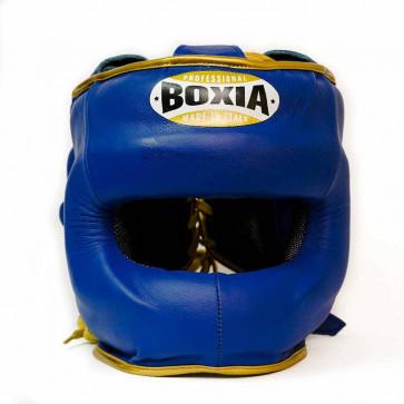 Casco Boxia Super America Blu-oro con Barra