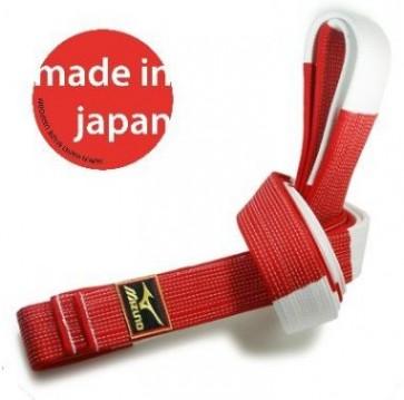 Cintura bianca-rossa Mizuno