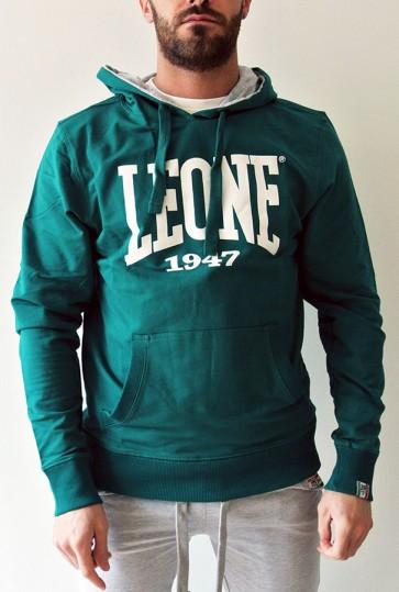 Felpa con Cappuccio Leone LSM312 Verde