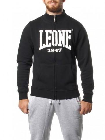 Felpa con zip Leone LSM566 Nero