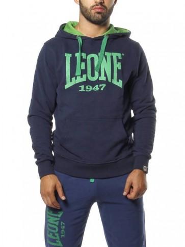 Felpa con cappuccio Leone LSM866 Blu