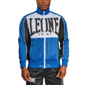 Felpa Leone Shock AB308 con zip blu