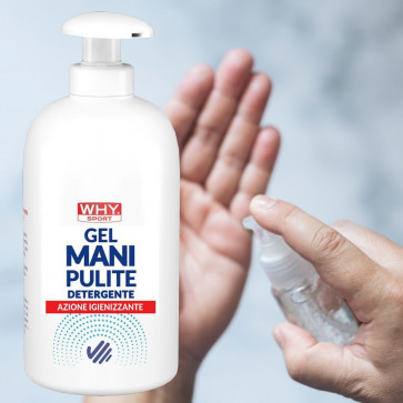 Gel igienizzante per le mani Why Sport Mani Pulite 500 ml con dispenser