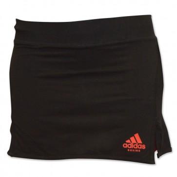 Gonna Adidas nera con logo rosso davanti