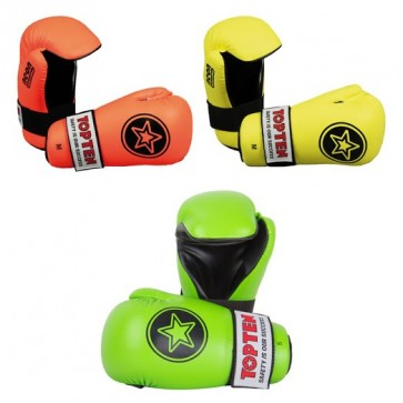 Guanti da Semi Contact Top Ten Pointfighter Star Neon