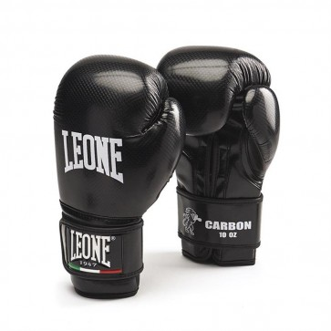 Guantoni 10 Oz Leone Carbon GN073 per Boxe, Kick Boxing, Muay Thai