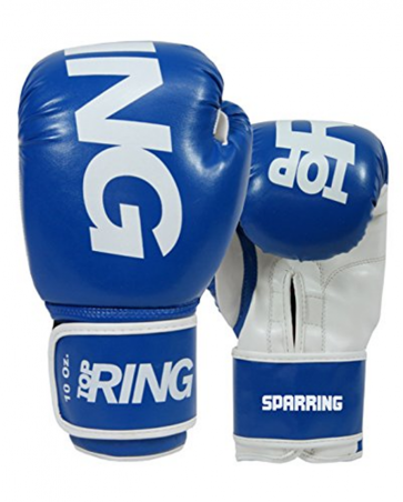 Guantoni 10 Oz Top Ring Sparring in nappa  Art. 312 BLU 10 Oz