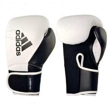 Guantoni Adidas Hybrid 150 Boxing Training Bianco-nero
