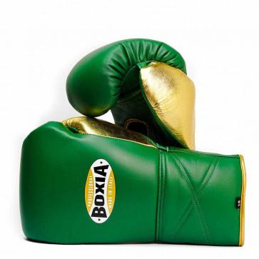 Guantoni Boxia GTX Verde-oro con lacci