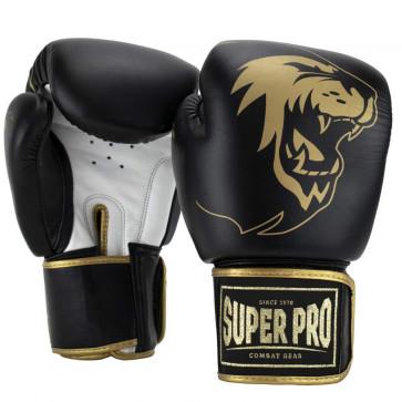 Guantoni Super Pro Warrior Nero-oro-bianco