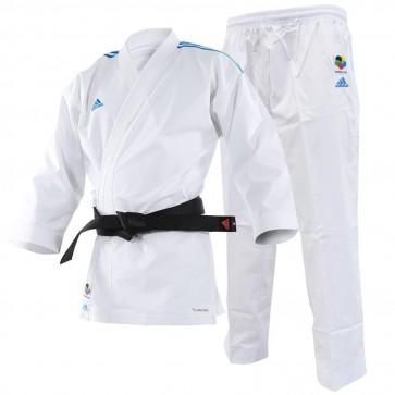 Karategi Adidas Kumite Adilight WKF con strisce blu