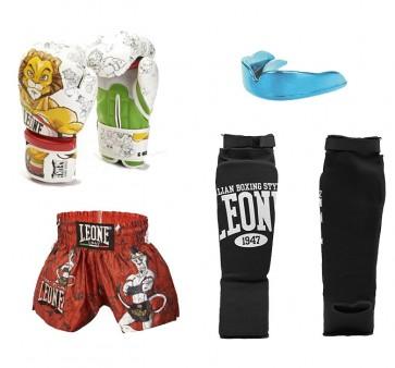 Kit Kick Boxing - Muay Thai Leone Leonard per Bambini