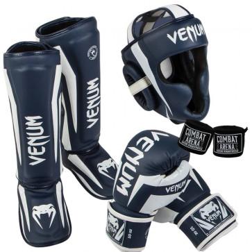 Kit Venum Elite Blu-bianco