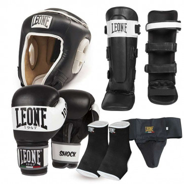 Kit Kick Boxing Muay Thai Leone 1947 Shock rosso