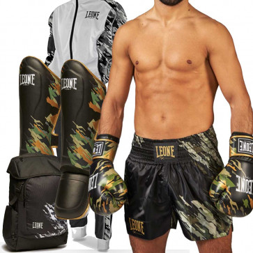 Kit Completo Kick Boxing Leone Military Edition