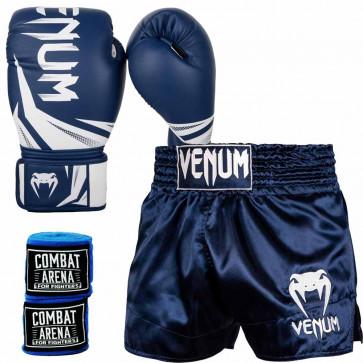 Kit Venum Thai Life Blu-Bianco