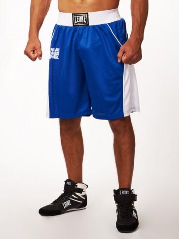 Pantaloncini da boxe Leone Corner AB729 Blu