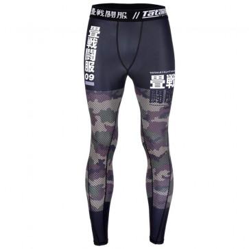 Pantaloni a compressione Tatami Essential Camo verde - davanti