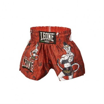 Pantaloncini thai-kick bambino Leone Ramon ABJ01 Rosso