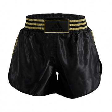Pantaloncini kick thai Adidas in satin davanti