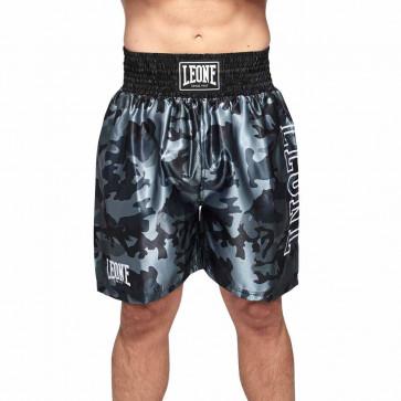 Pantaloncini boxe Leone Camo AB221 grigio mimetico - davanti