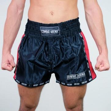 Pantaloncini Kick-Thai Combat Arena Classic nero-rosso