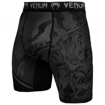 Pantaloncini a compressione Venum Devil Nero-Nero davanti