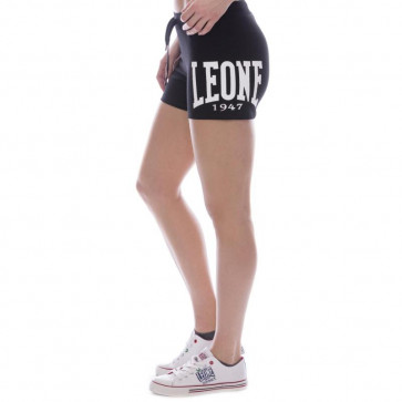 Pantaloncini donna Leone 1947 Apparel Big Logo - Nero