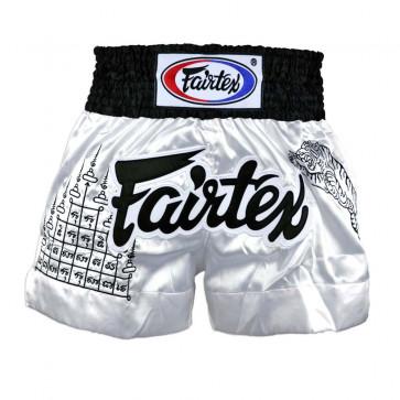Pantaloncini Muay Thai Fairtex BS0637 Superstition Bianco