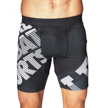 Pantaloncini MMA Leone WACS AB931 a compressione Nero
